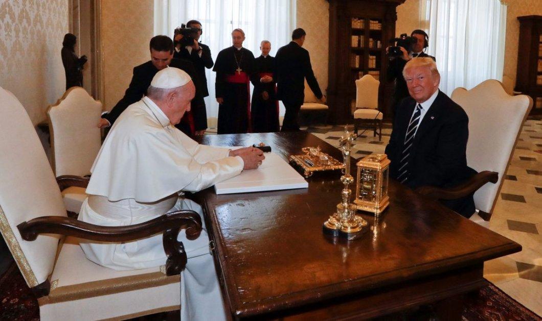 Πάπας σε Μελάνια: «Τι τον ταΐζεις;» -To τετ-α- τετ με τον Ντόναλντ Τραμπ στο Βατικανό (Βίντεο & Φώτο) - Κυρίως Φωτογραφία - Gallery - Video