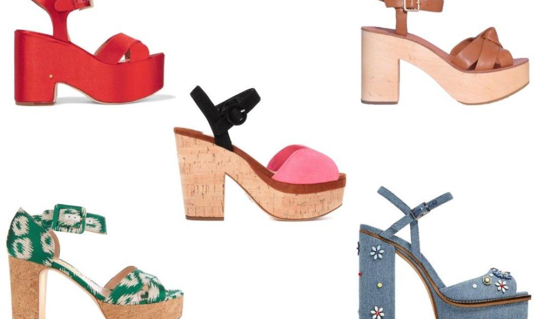 Καλοκαιρινά παπούτσια 2017: mules ή slides, χαμηλό, χοντρούτσικο ή ψηλή πλατφόρμα 70's; - Κυρίως Φωτογραφία - Gallery - Video