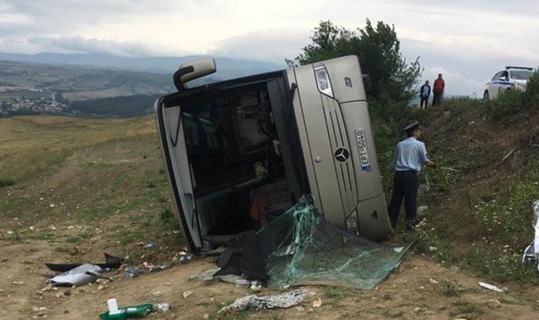 Σέρρες: Ανατροπή λεωφορείου με μαθητές δημοτικού (Φώτο) - Κυρίως Φωτογραφία - Gallery - Video