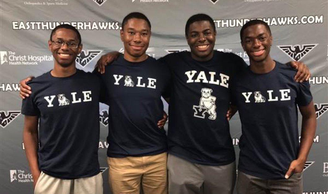 Πανέξυπνα τετράδυμα θα φοιτήσουν μαζί στο Yale: Το μυστικό της επιτυχίας τους; (Φωτό & Βίντεο) - Κυρίως Φωτογραφία - Gallery - Video