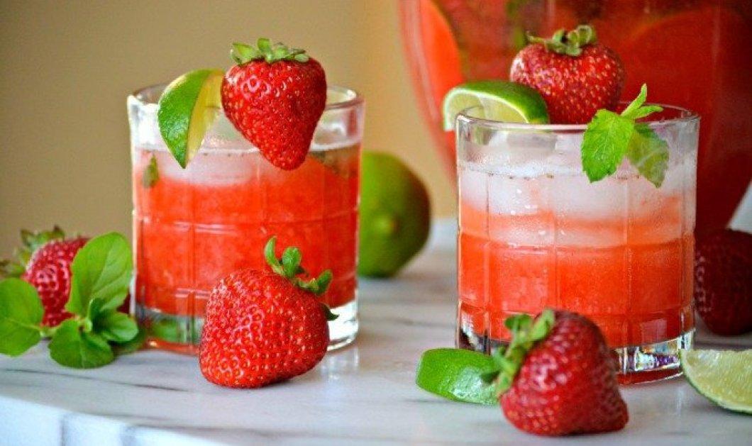 Φτιάξτε με 4 απλά βήματα το πιο δροσιστικό mojito φράουλα με μόλις 178 θερμίδες! - Κυρίως Φωτογραφία - Gallery - Video