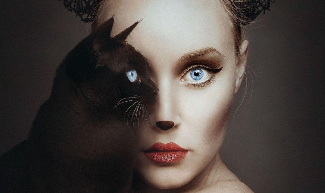 Σουρεαλιστικά ονειρικά πορτραίτα: Η γυναίκα που το ένα μάτι της «γίνεται ένα» με τα ζώα - Κυρίως Φωτογραφία - Gallery - Video