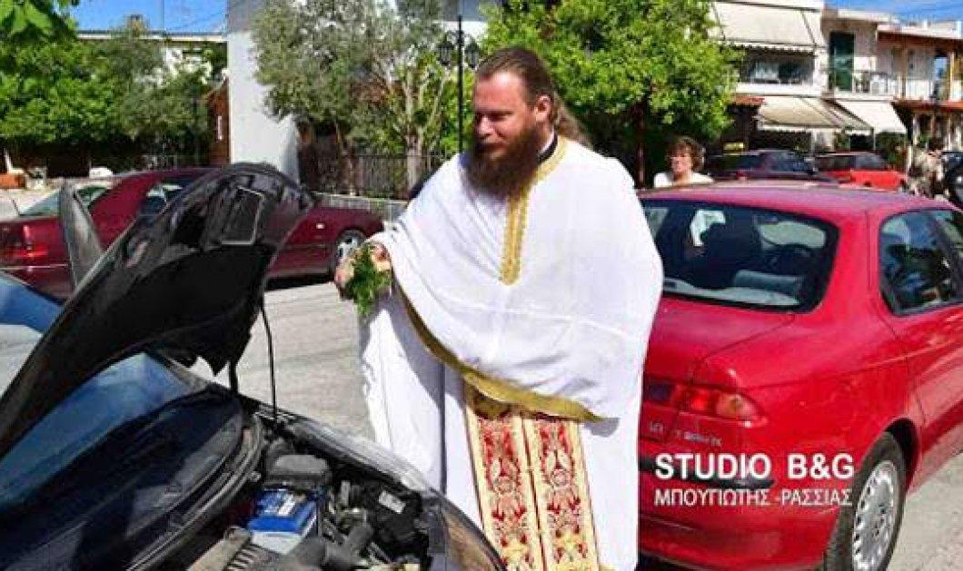 Αγιασμός αυτοκινήτων, μηχανών και ασθενοφόρων στο Ναύπλιο -Φώτο & Βίντεο   - Κυρίως Φωτογραφία - Gallery - Video