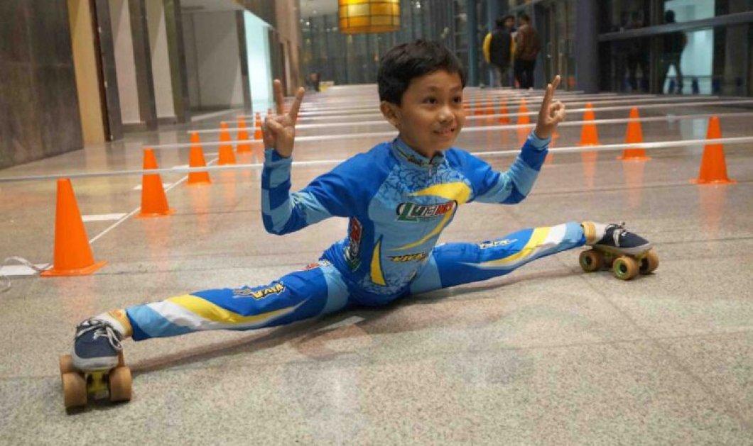Ρεκόρ Guinness από το 9χρονο παιδί- θαύμα: Πέρασε με παγοπέδιλα κάτω από 146 μπάρες -Βίντεο - Κυρίως Φωτογραφία - Gallery - Video
