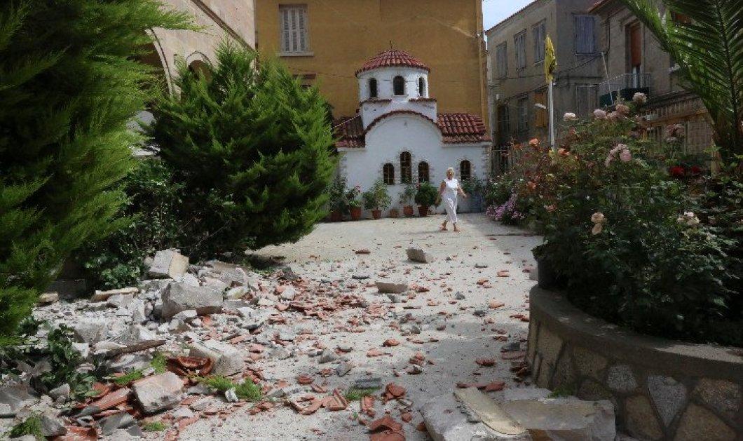 Σεισμός στη Μυτιλήνη 6,1 ρίχτερ: Κατέρρευσαν σπίτια στο Πλωμάρι- Βίντεο ντοκουμέντο- Μια 45χρονη ανασύρθηκε νεκρή  - Κυρίως Φωτογραφία - Gallery - Video