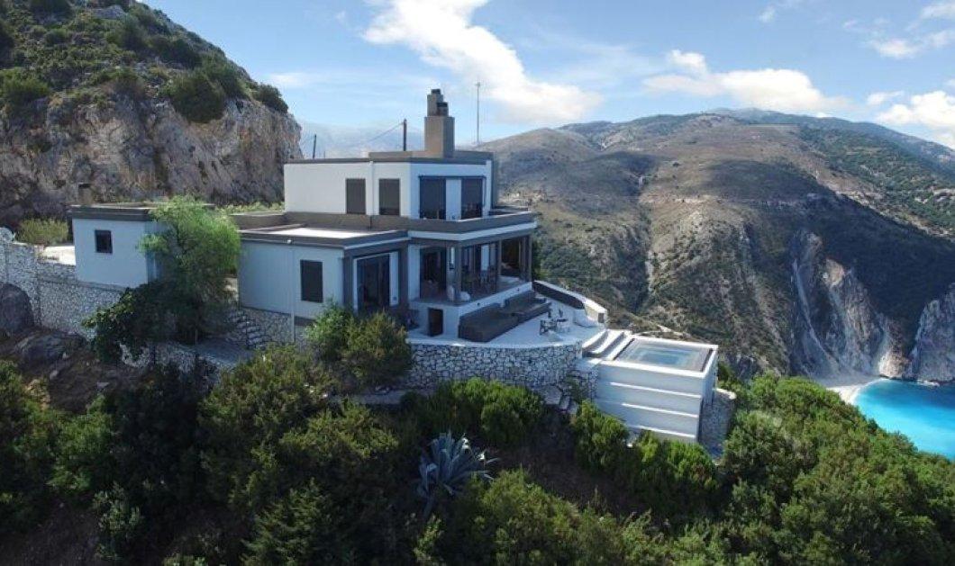 Αυτή η κατοικία στην Κεφαλονιά είναι σκαρφαλωμένη στα 300 μέτρα πάνω από τη θάλασσα & η θέα της κόβει την ανάσα! - Κυρίως Φωτογραφία - Gallery - Video