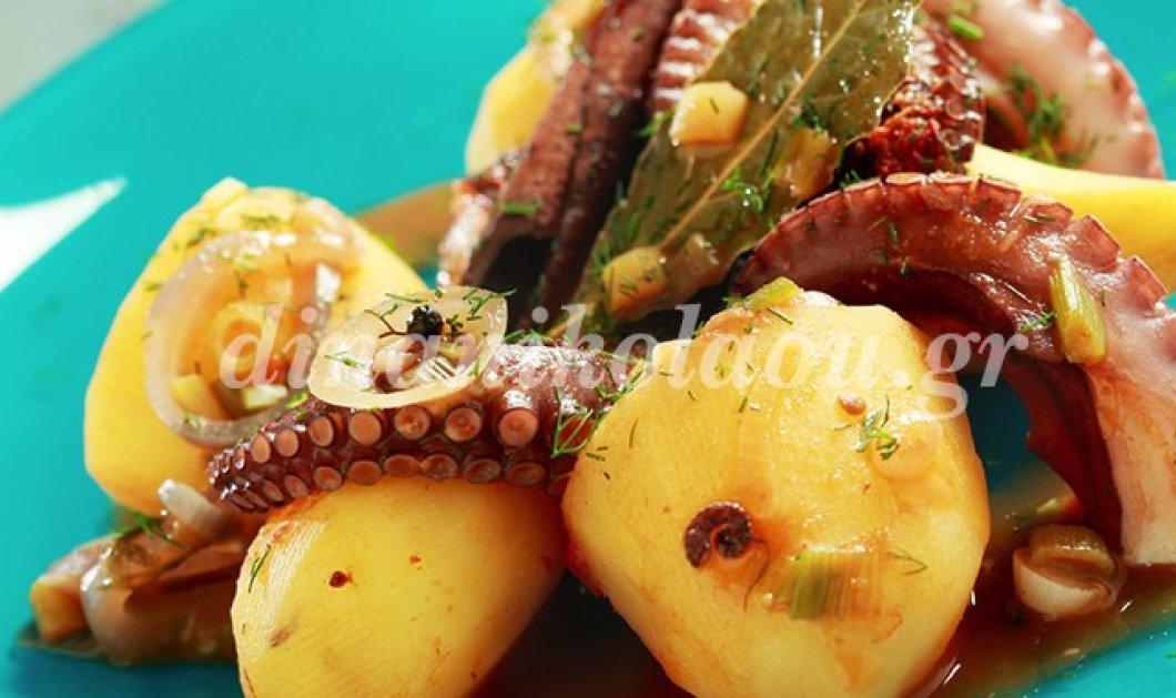 Πεντανόστιμο χταποδάκι στην κατσαρόλα με πατάτες- Από την Ντίνα Νικολάου - Κυρίως Φωτογραφία - Gallery - Video