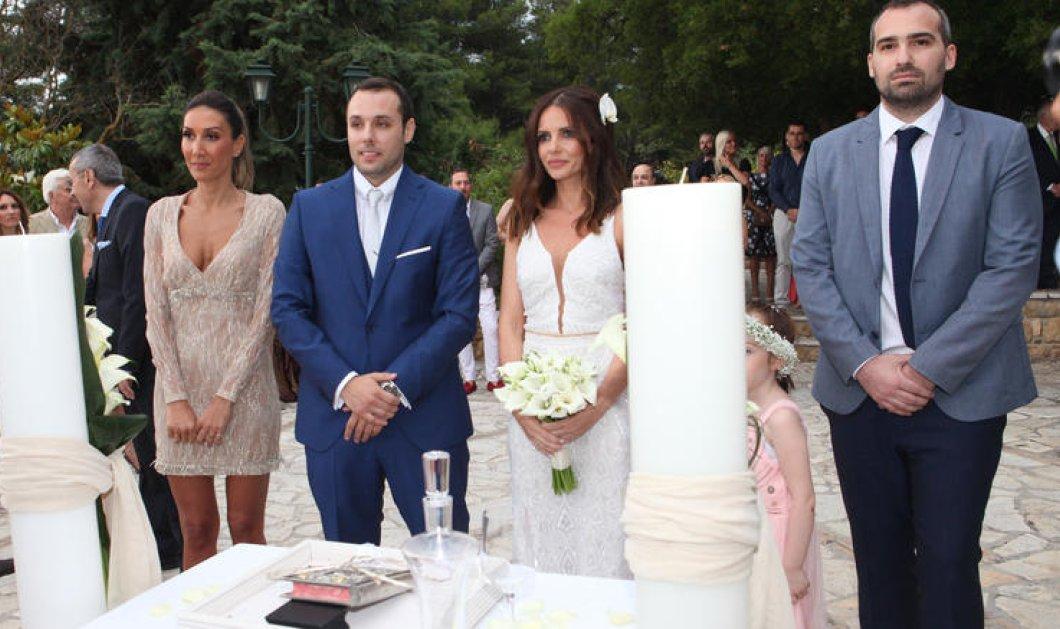 Η Ελένη Καρποντίνη & ο Βασίλης Λιάτσος ενώθηκαν με τα δεσμά του γάμου σε μια παραμυθένια τελετή - Κυρίως Φωτογραφία - Gallery - Video