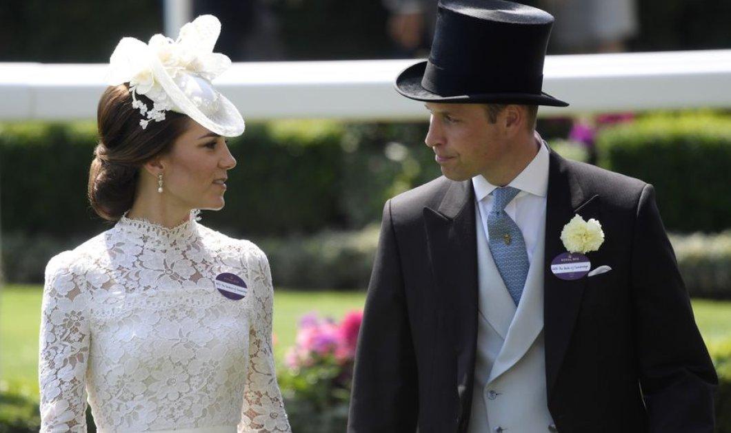 Εκκεντρικά καπέλα στις ιπποδρομίες του Ascot: Η πριγκίπισσα Κέιτ λευκή οπτασία & καναρινί η βασίλισσα Ελισάβετ - Αδιάφορη η Καμίλα - Κυρίως Φωτογραφία - Gallery - Video
