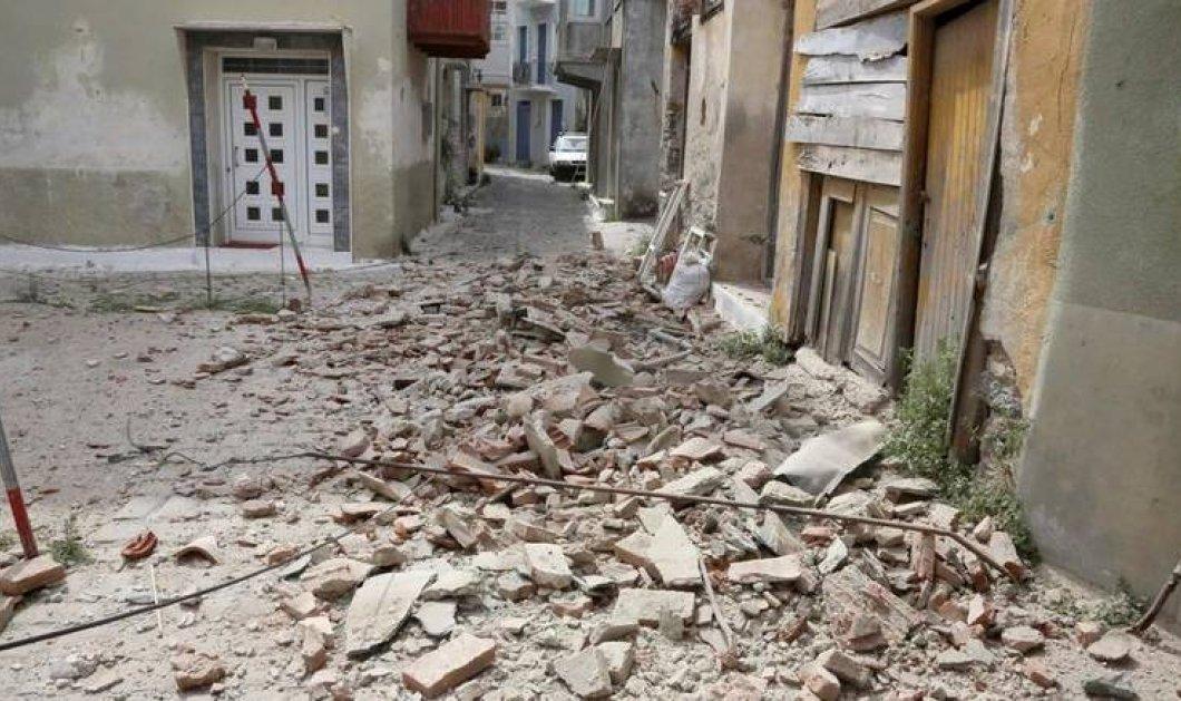 Λέσβος σεισμός: Ο εγκέλαδος ισοπέδωσε τη Βρίσα- Μία νεκρή - Οι προβλέψεις των σεισμολόγων (Φωτό-Βίντεο) - Κυρίως Φωτογραφία - Gallery - Video