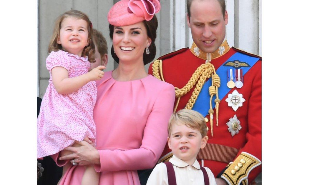 Στα ροζ μαμά & κόρη Kate & Charlotte - Σοβαροί κύριοι ο διάδοχος William & ο Πρίγκηπας George - Η 91χρονη Ελισάβετ στο μπαλκόνι  - Κυρίως Φωτογραφία - Gallery - Video