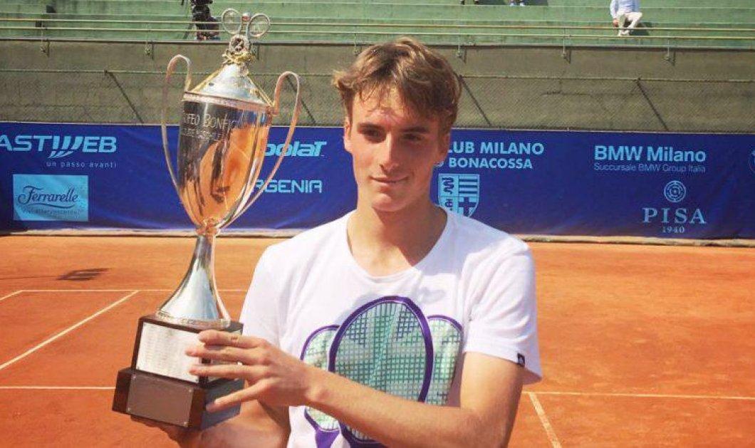 Good news: Ο 19χρονος Έλληνας τενίστας Στέφανος Τσιτσιπάς για πρώτη φορά στο Wimbledon - Κυρίως Φωτογραφία - Gallery - Video