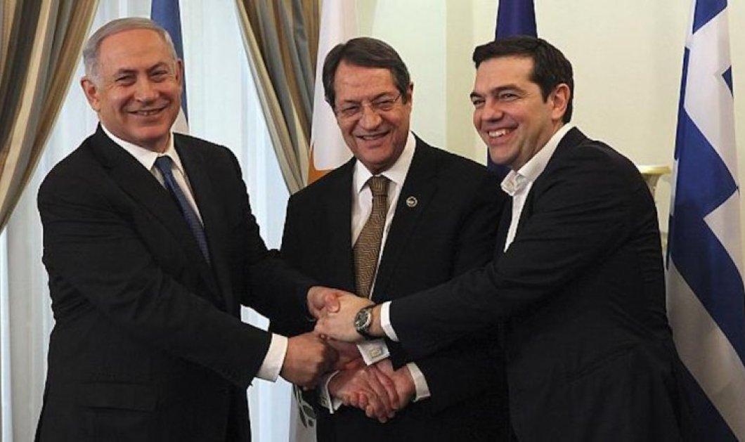 Ολοκληρώθηκε η Τριμερής Σύνοδος Ελλάδας- Κύπρου- Ισραήλ στη Θεσσαλονίκη - Κυρίως Φωτογραφία - Gallery - Video