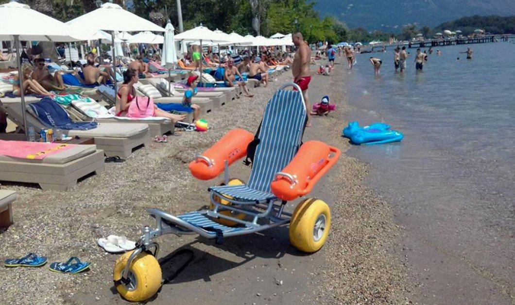Good news: Η Κέρκυρα το πρώτο νησί στην Ελλάδα με πλωτά αμαξίδια για ανθρώπους με κινητικές δυσκολίες - Κυρίως Φωτογραφία - Gallery - Video