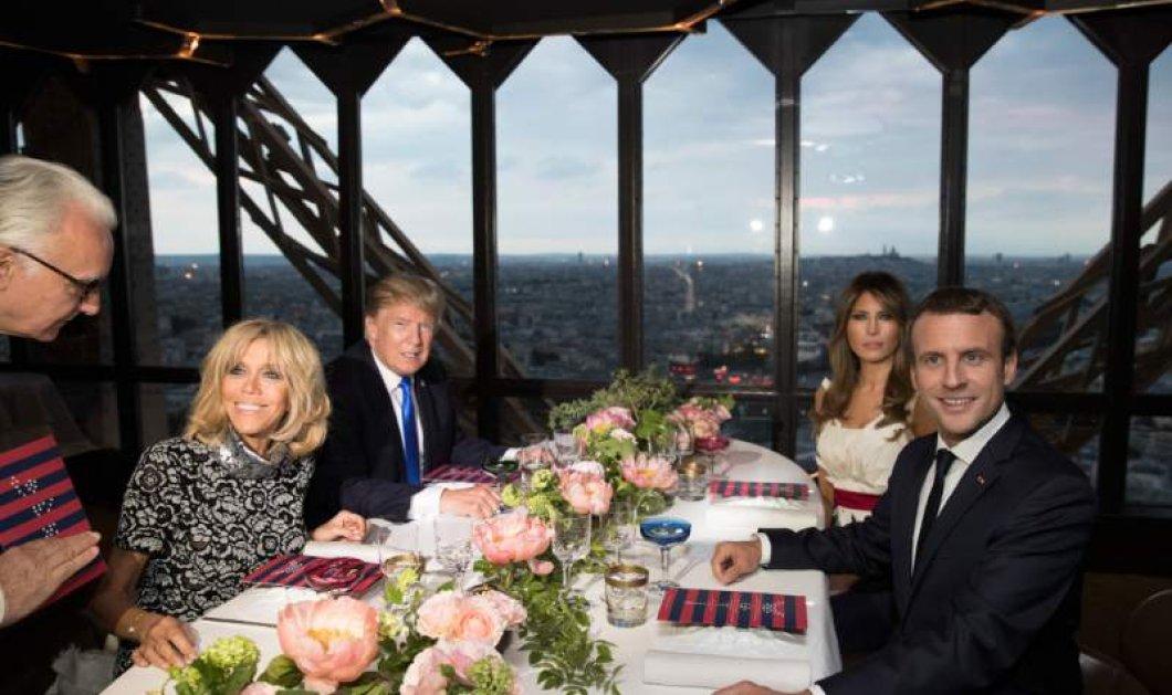 Ζευγάρια Τραμπ Μακρόν στο ωραιότερο εστιατόριο στον Πύργο του Άιφελ – Το 24ωρο Μπριζίτ Μελάνια (ΦΩΤΟ-ΒΙΝΤΕΟ) - Κυρίως Φωτογραφία - Gallery - Video