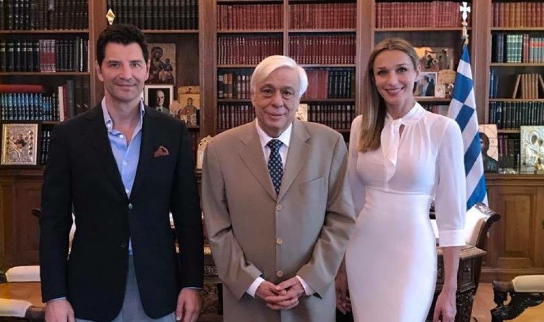 """Ο Σάκης Ρουβάς και η Κάτια Ζυγούλη στον Πρόεδρο της Δημοκρατίας - Τους ευχήθηκε """"Να ζήσουν""""  - Κυρίως Φωτογραφία - Gallery - Video"""