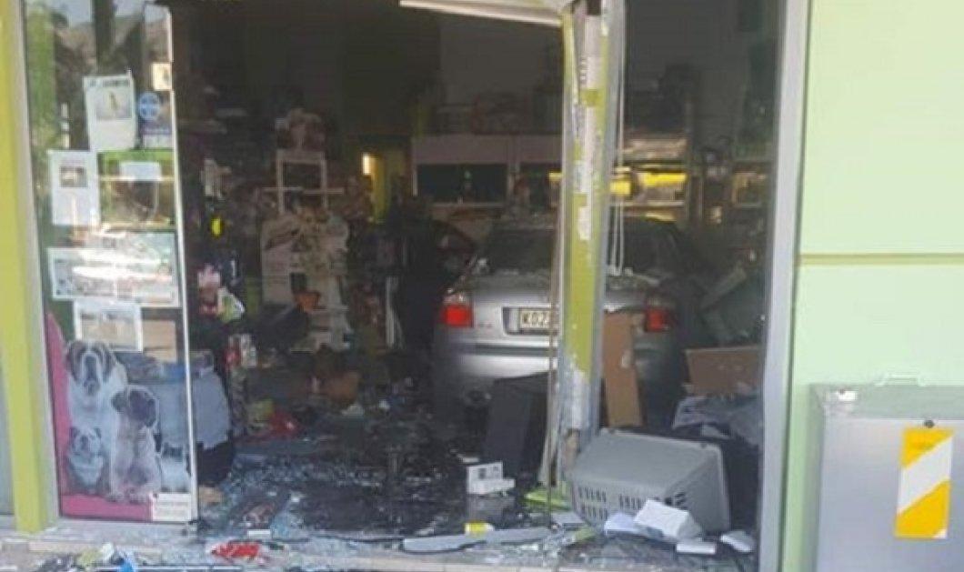 Αυτοκίνητο μπήκε μέσα σε... κατάστημα στην Ξάνθη - Κυρίως Φωτογραφία - Gallery - Video
