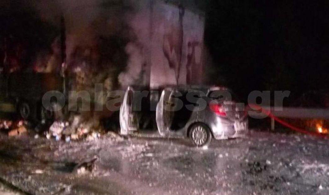 Οδηγός κάηκε ζωντανός μέσα στο αυτοκίνητό του - σοκαρίστηκες εικόνες  - Κυρίως Φωτογραφία - Gallery - Video