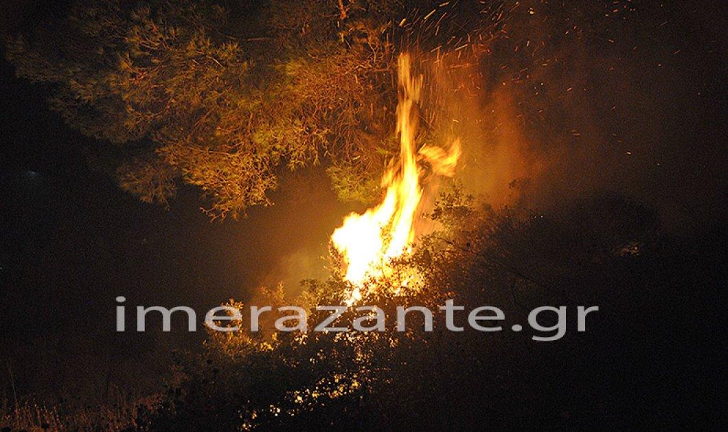 Ζάκυνθος: Ολονύχτια μάχη με τις φλόγες - Δύσκολες ώρες πέρασε το χωριό Μαριές  - Κυρίως Φωτογραφία - Gallery - Video