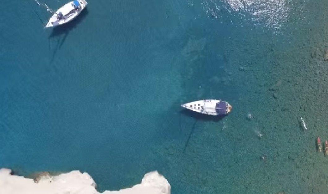 O Τόλης Ντέλος πέταξε πάνω από τη Μήλο με την κάμερα του & παρουσιάζει το νησί με τις 1000 παραλίες  - Κυρίως Φωτογραφία - Gallery - Video