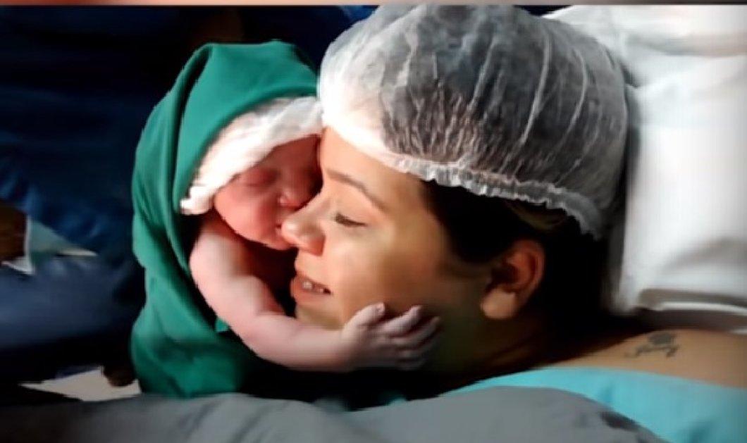 Συγκινητικές στιγμές: Νεογέννητο λίγων λεπτών αγκαλιάζει τρυφερά τη μαμά του (ΒΙΝΤΕΟ) - Κυρίως Φωτογραφία - Gallery - Video