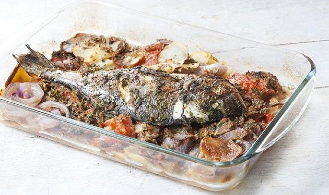 Ψάρι με μελωμένες πατάτες που λιώνουν στο στόμα σε σάλτσα ντομάτας και μυρωδικών μας φτιάχνει η Αργυρώ - Κυρίως Φωτογραφία - Gallery - Video
