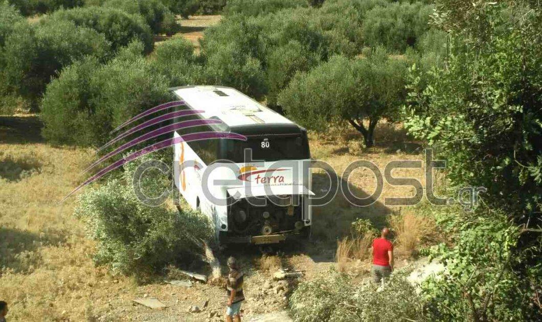 Τρομακτικό θανατηφόρο τροχαίο στην Κρήτη: Λεωφορείο συγκρούστηκε με ΙΧ και έπεσε από γέφυρα - Κυρίως Φωτογραφία - Gallery - Video