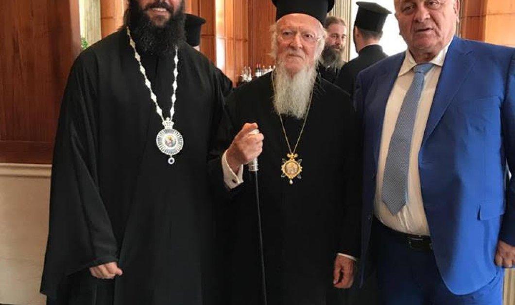Σημαντική συνάντηση του Οικουμενικού Πατριάρχη Βαρθολομαίου με τον Παντελή Μπούμπουρα στη Βουδαπέστη - Κυρίως Φωτογραφία - Gallery - Video