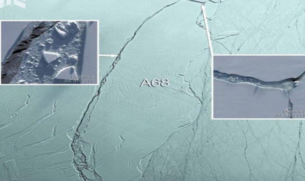 Θρίλερ στον Ατλαντικό: Παγόβουνο τέρας αποκολλήθηκε και κινείται στην ανοιχτή θάλασσα  - Κυρίως Φωτογραφία - Gallery - Video
