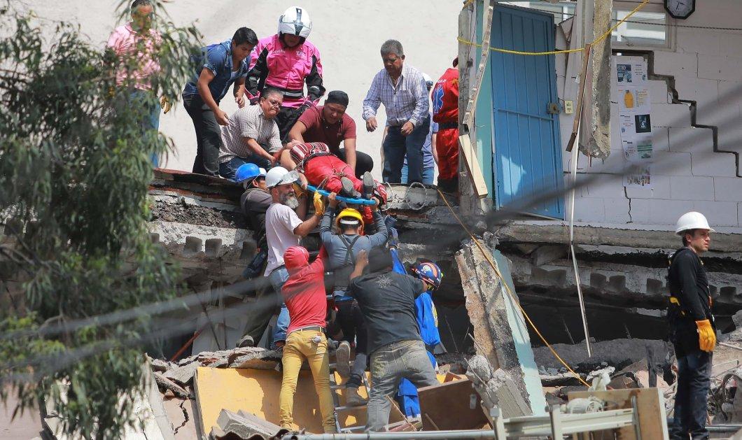 Συγκλονιστικές φωτογραφίες από τον σεισμό στο Μεξικό αποτυπώνουν την τραγωδία που χτύπησε δεύτερη φορά - Κυρίως Φωτογραφία - Gallery - Video