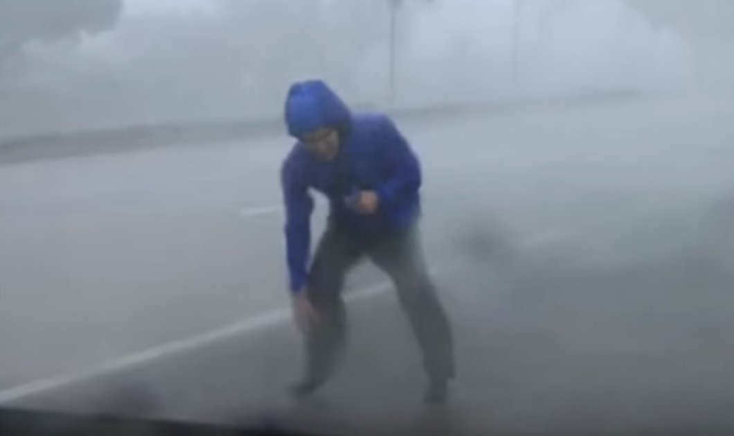 Βίντεο: Ρεπόρτερ παρασύρεται on camera από τους ανέμους του τυφώνα Ίρμα - Κυρίως Φωτογραφία - Gallery - Video