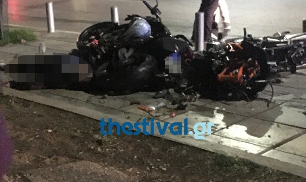 Τραγωδία στη Θεσσαλονίκη: ΙΧ παρέσυρε δύο μοτοσικλέτες  – Τρεις νεκροί και μία σοβαρά τραυματισμένη (BINTEO) - Κυρίως Φωτογραφία - Gallery - Video