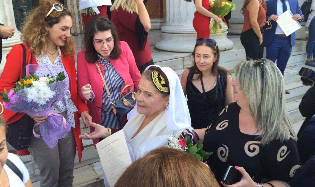 Top woman η κυρία Αρετή: Πήρε το πτυχίο της ντυμένη Λευκαδίτισσα - Συγχαρητήρια!!!! - Κυρίως Φωτογραφία - Gallery - Video