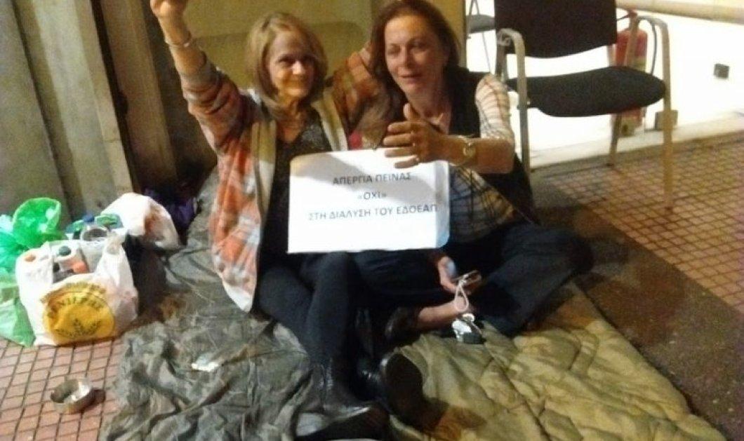 Αυξάνεται ο αριθμός των δημοσιογράφων απεργών πείνας προκειμένου να μην διαλυθεί το Ταμείο τους - Κυρίως Φωτογραφία - Gallery - Video