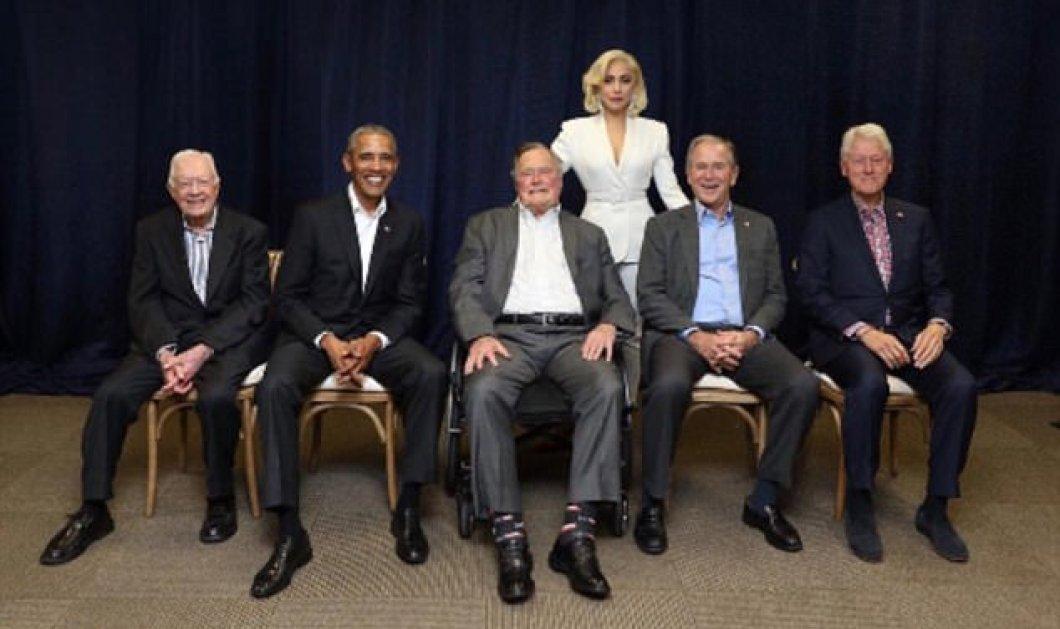 Η Lady Gaga αφόρητα σέξι σικ με 5 Αμερικανούς Προέδρους μαζί: Κάρτερ, Κλίντον, Ομπάμα Μπους & Μπους (ΦΩΤΟ) - Κυρίως Φωτογραφία - Gallery - Video
