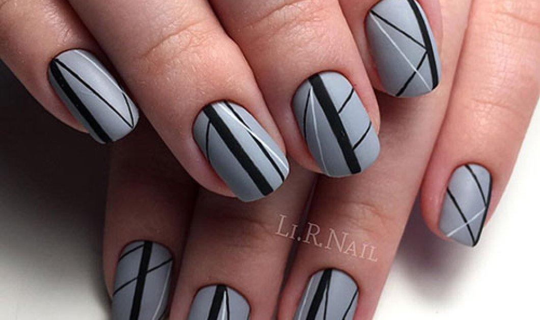 35 ιδέες για μαύρα – γκρι νύχια που θα κάνουν τις εμφανίσεις άκρως εντυπωσιακές! (ΦΩΤΟ) - Κυρίως Φωτογραφία - Gallery - Video