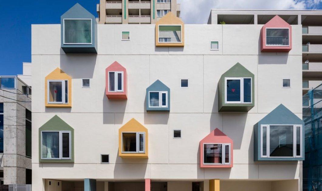 Το πολύχρωμο νηπιαγωγείο στην Ιαπωνία με τα εντυπωσιακά παράθυρα και τον κήπο στην οροφή του (ΦΩΤΟ) - Κυρίως Φωτογραφία - Gallery - Video