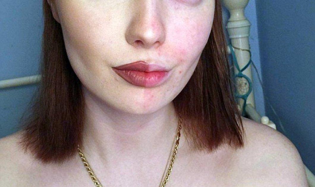 """Με ή χωρίς μακιγιάζ; - Νέα μόδα δίνει την απάντηση στο """"αιώνιο ερώτημα""""- Παρουσιάζει το μισό πρόσωπο μακιγιαρισμένο (ΦΩΤΟ- ΒΙΝΤΕΟ) - Κυρίως Φωτογραφία - Gallery - Video"""