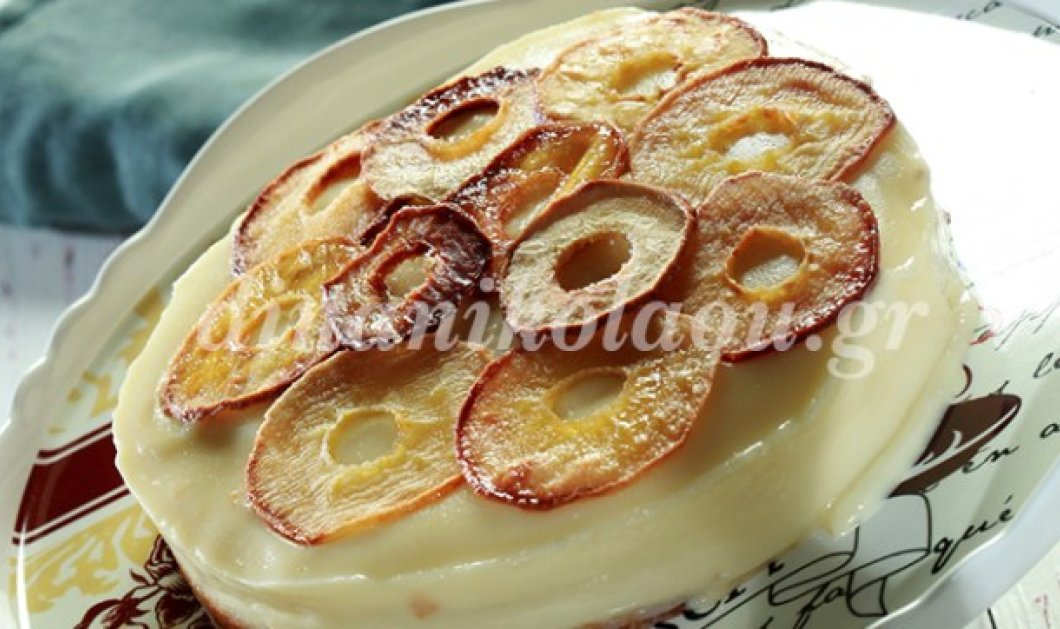 Θα ξετρελαθείτε!!! Θεσπέσια Μηλόπιτα τούρτα από την καταπληκτική Ντίνα Νικολάου - Κυρίως Φωτογραφία - Gallery - Video