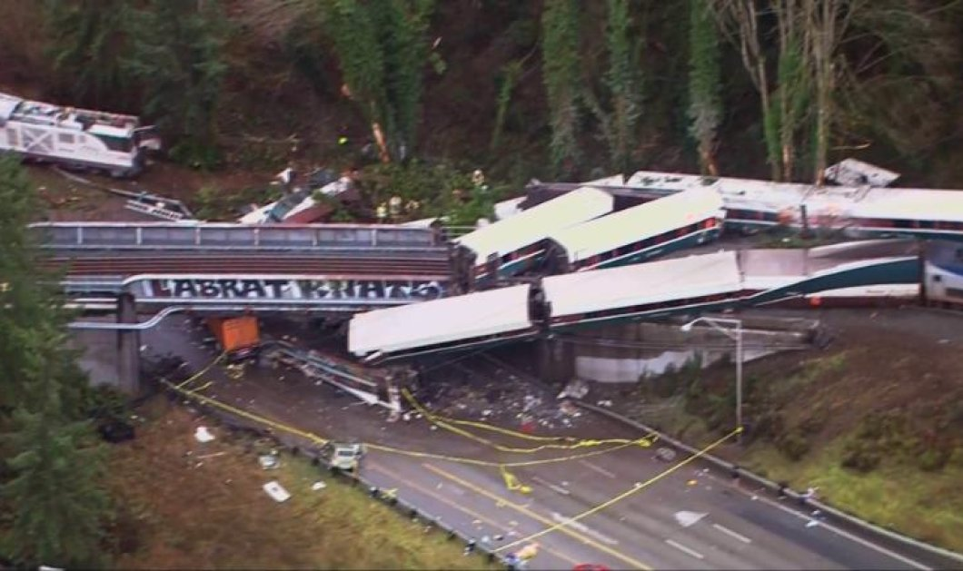 Πολύνεκρο δυστύχημα στην Ουάσιγκτον - Εκτροχιάστηκε τραίνο της Amtrak (ΦΩΤΟ- ΒΙΝΤΕΟ)  - Κυρίως Φωτογραφία - Gallery - Video