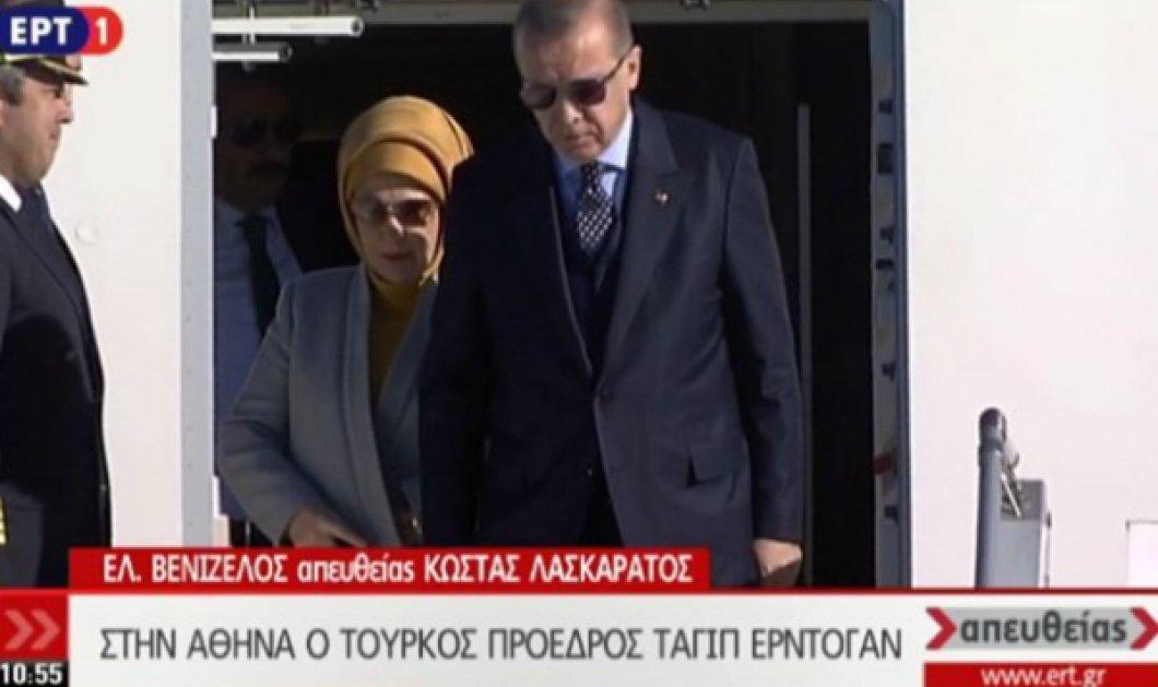 Πάτησε Ελλάδα ο Ερντογάν! Καρέ - καρέ η αποβίβαση του Τούρκου προέδρου μετά της συζύγου από το αεροσκάφος - Κυρίως Φωτογραφία - Gallery - Video