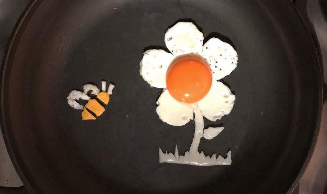 Καλλιτέχνης μετατρέπει τα τηγανιτά αυγά σε έργα τέχνης -ΦΩΤΟ - Κυρίως Φωτογραφία - Gallery - Video