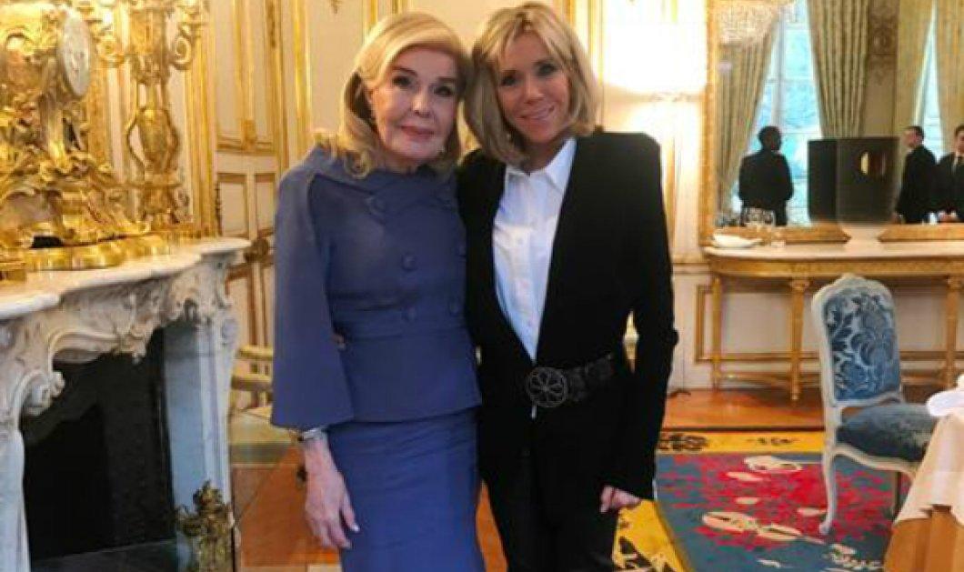 Το τετ α τετ της Μαριάννας Βαρδινογιάννη με την πρώτη κυρία της Γαλλίας - Όσα είπαν με την απαστράπτουσα Μπριγκίτε - Κυρίως Φωτογραφία - Gallery - Video