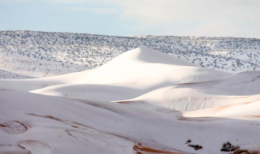 Κατάλευκη  η Σαχάρα όπου χιόνισε για τρίτη φορά τα τελευταία 40 χρόνια- Δείτε τις υπέροχες φωτογραφίες - Κυρίως Φωτογραφία - Gallery - Video