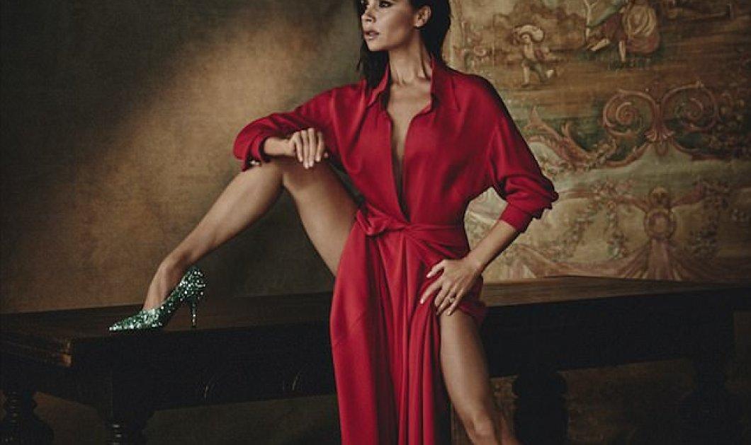 Η Victoria Beckham γυμνή η ντυμένη στα κόκκινα χορεύει... φλογερά για φωτογράφιση στη Vogue    - Κυρίως Φωτογραφία - Gallery - Video