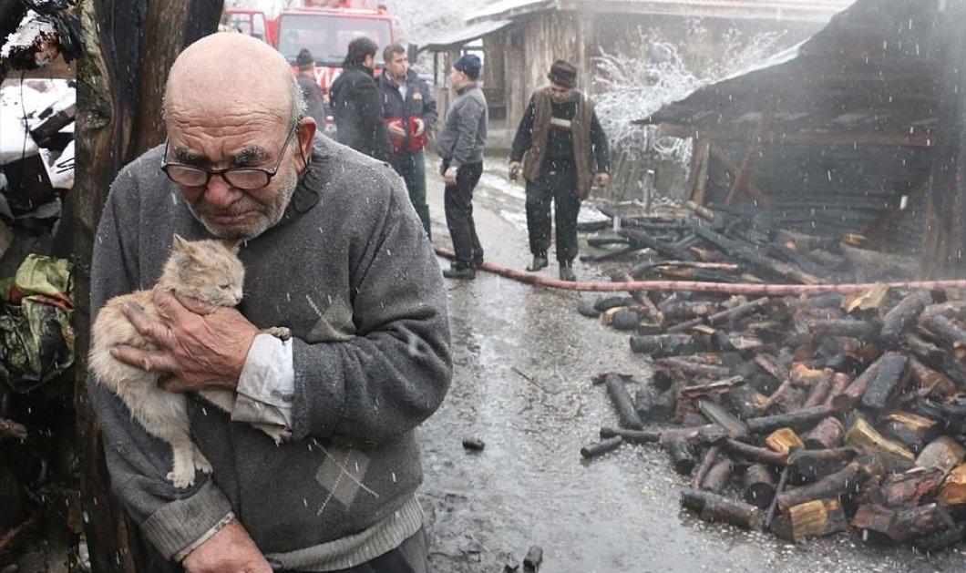 Η συγκλονιστική στιγμή που ένας 83χρονος χάνει τα πάντα εκτός από το γατάκι του - Ράγισε καρδιές η ιστορία του (ΦΩΤΟ) - Κυρίως Φωτογραφία - Gallery - Video
