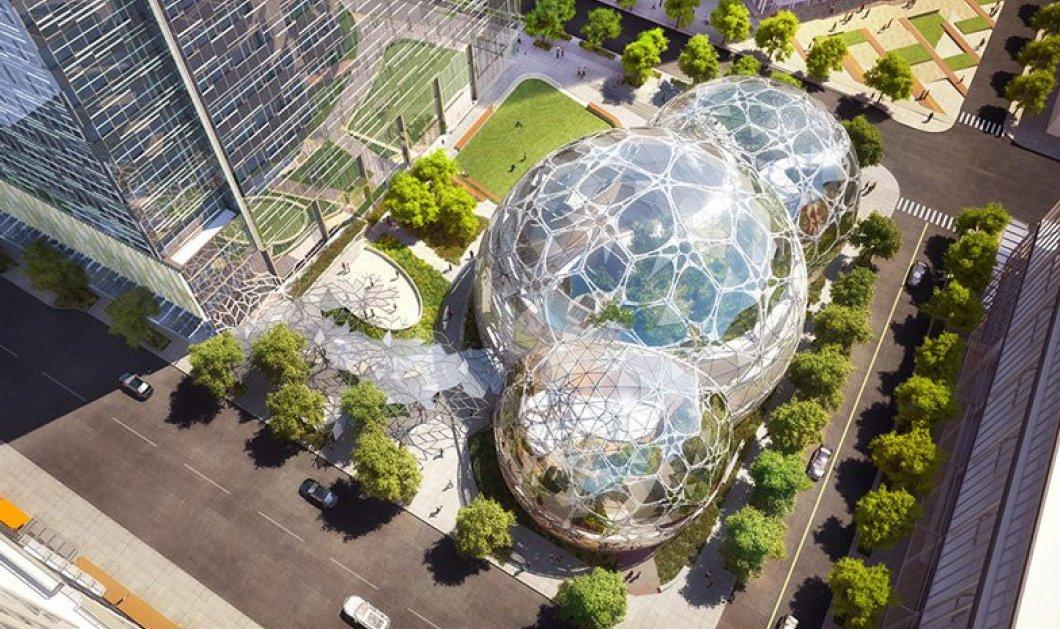 """Ένα τροπικό δάσος μέσα σε τρεις σφαίρες """"κρύβουν"""" τα νέα γραφεία της Amazon στο Σιάτλ - Κυρίως Φωτογραφία - Gallery - Video"""