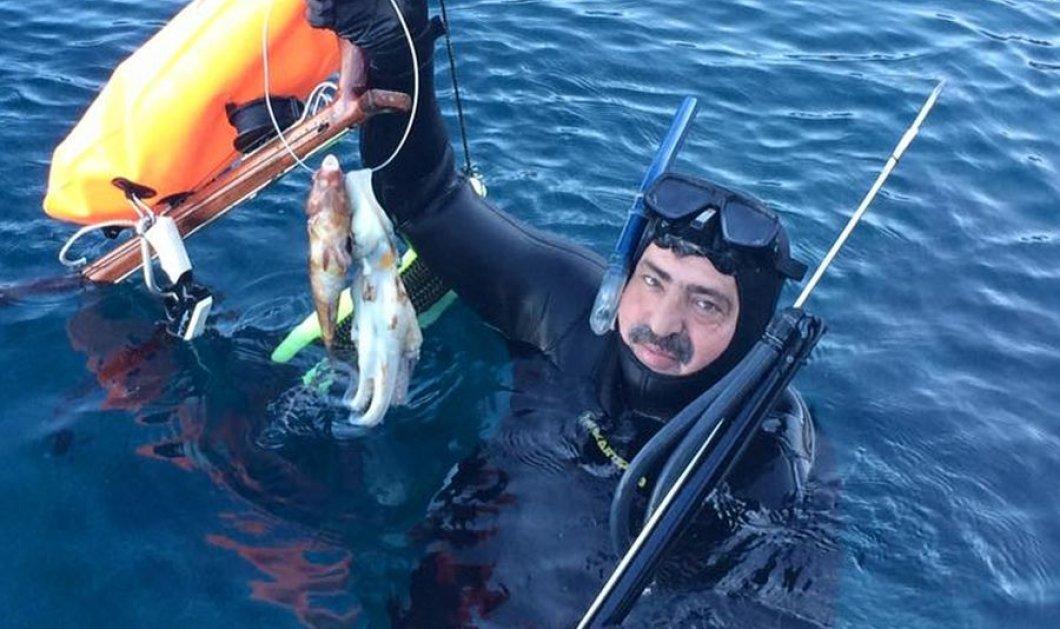 Φώτο: Ο Παύλος Πολάκης πήγε για ψαροντούφεκο - Έτσι καλωσόρισε το 2018  - Κυρίως Φωτογραφία - Gallery - Video
