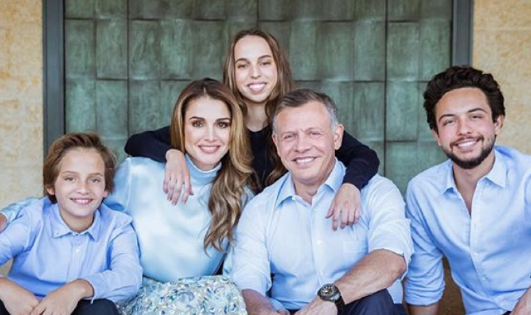 Πως ευχήθηκε Καλή Χρονιά η καλλονή Βασίλισσα Ράνια της Ιορδανίας - Φώτο με όλη την οικογένεια  - Κυρίως Φωτογραφία - Gallery - Video