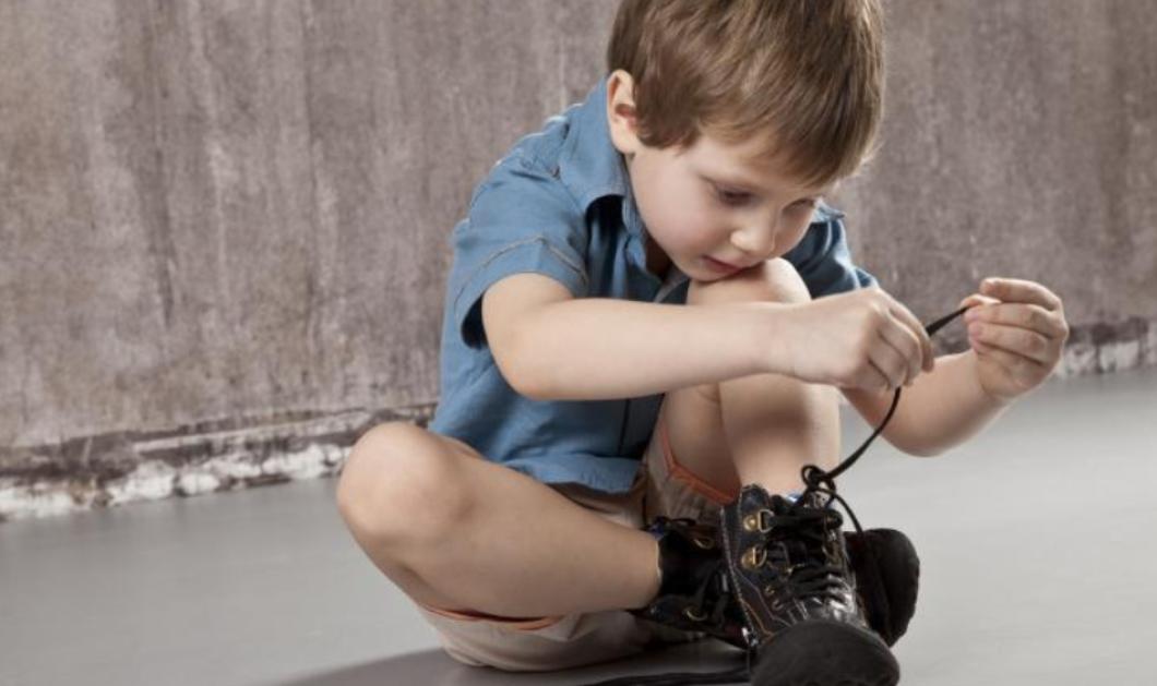 Ιδού πως θα μάθει το παιδί να δένει τα κορδόνια του - Η διαδικασία βήμα-βήμα - Κυρίως Φωτογραφία - Gallery - Video